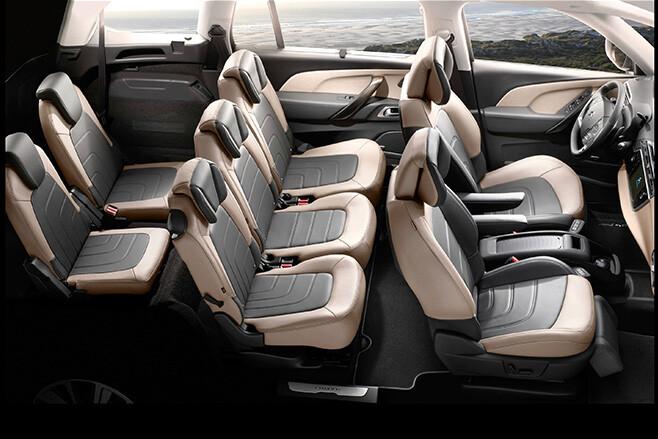 Seven Seater Seats in Citroen Grand C4 Picasso