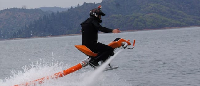 The Jetovator: a water-powered motorbike for the high seas