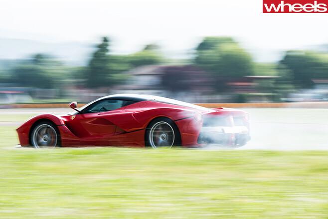 Ferrari -smoking -rear -tyres