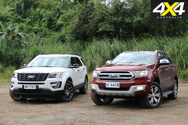Ford Explorer and Everest