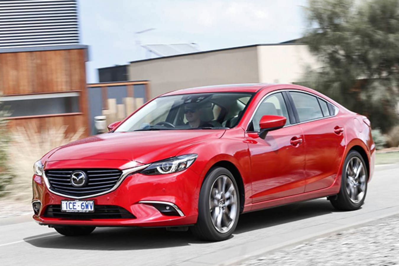 Mazda 6 front side driving