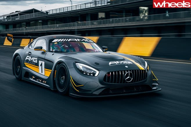 Mercedes -AMG-GT-3-driving -track