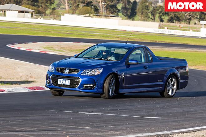 Holden SS ute driving