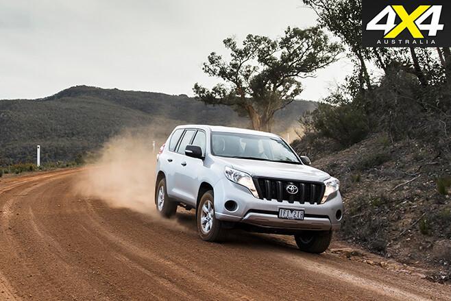 Toyota prado driving dirt