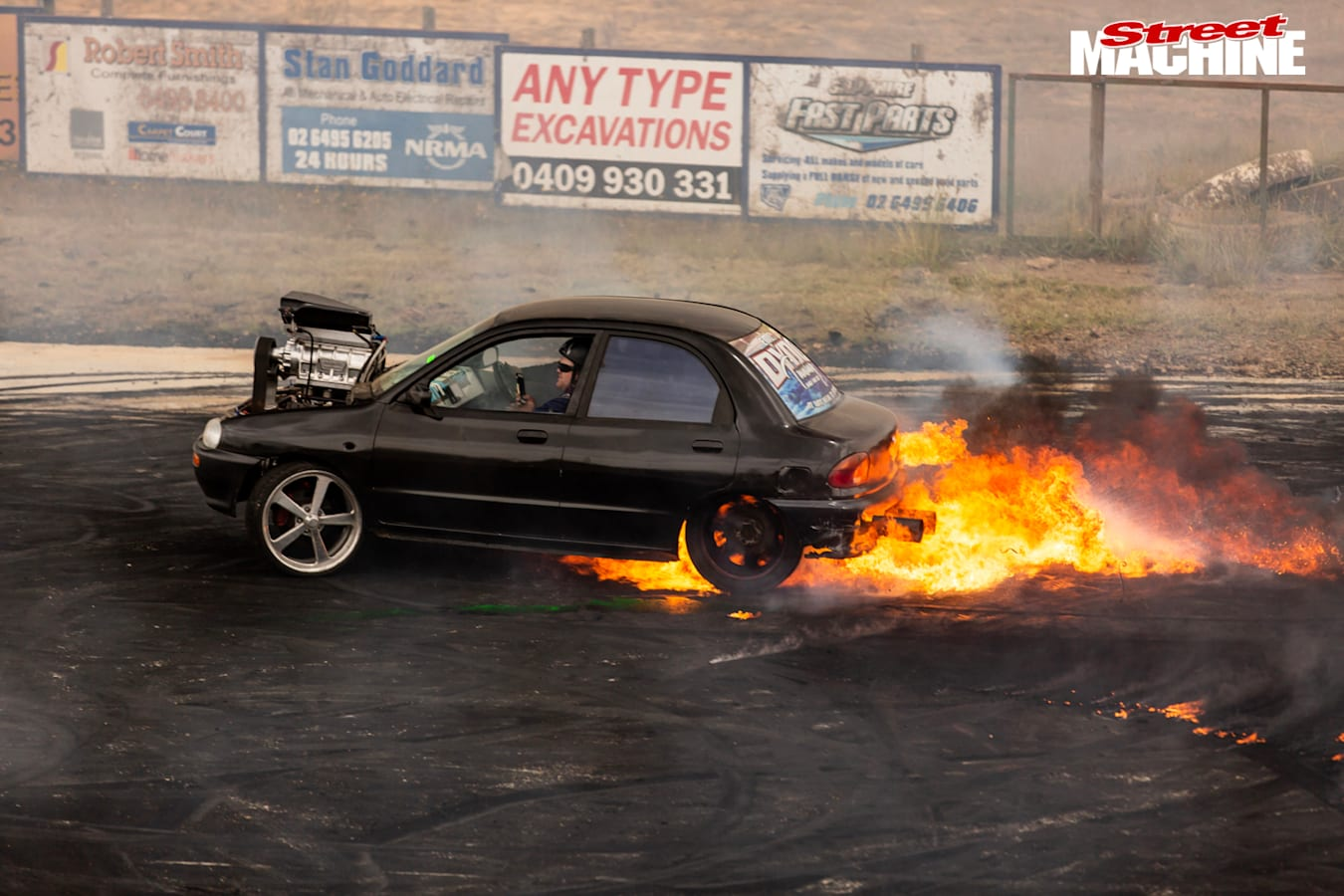 Mazda 121 burnout car