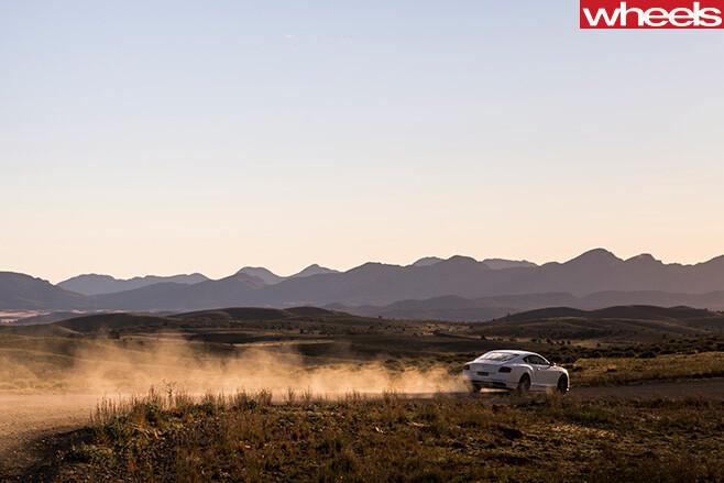 Bentley -Continental -driving -dust