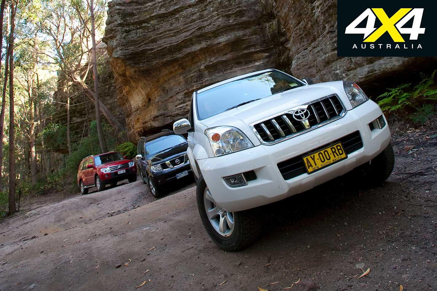 2009 Pajero Vs Pathfinder Vs Prado Comparison Off Road Jpg