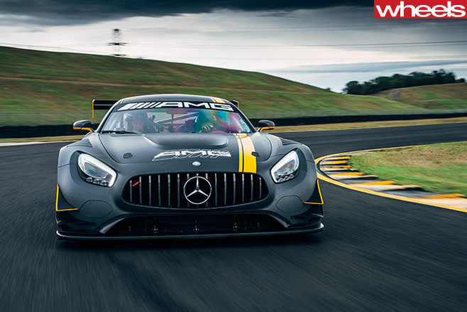 Mercedes -AMG-GT-3-driving -front -track