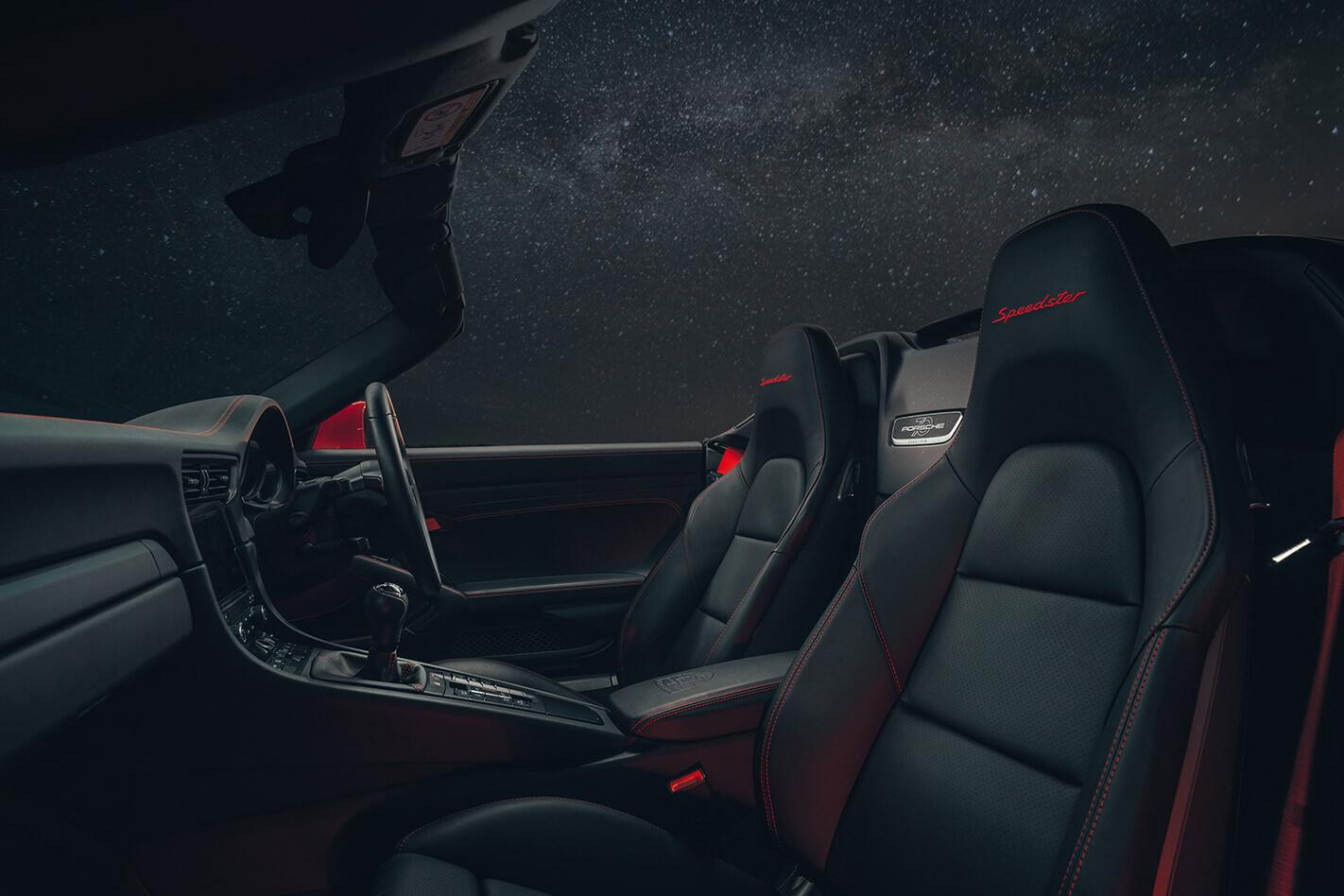 2020 Porsche 911 Speedster interior