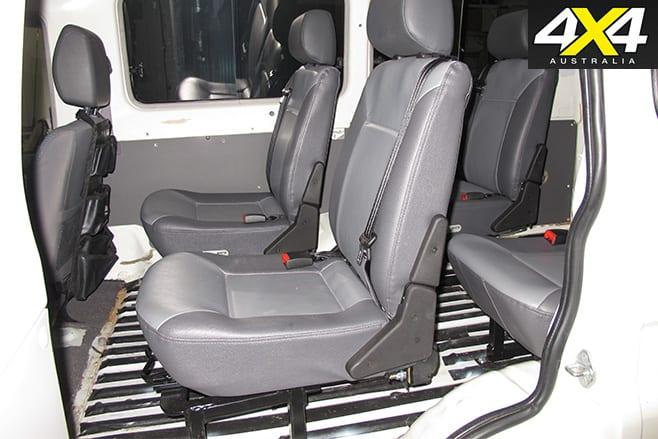 Techsafe seats product test side