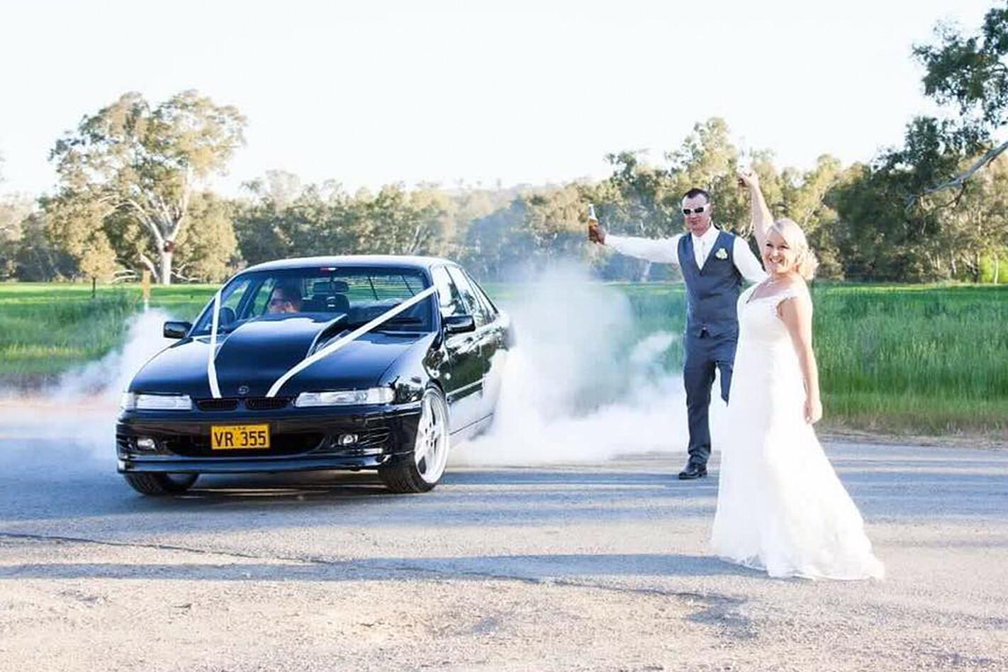 Brett Crain's wedding car