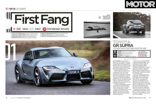 MOTOR Magazine October 2019 Issue Supra Driven In Oz Jpg