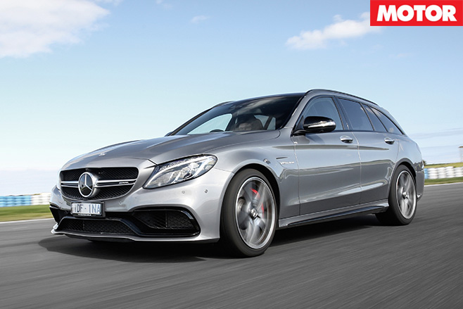 Mercedes-AMG C63 S Estate driving front