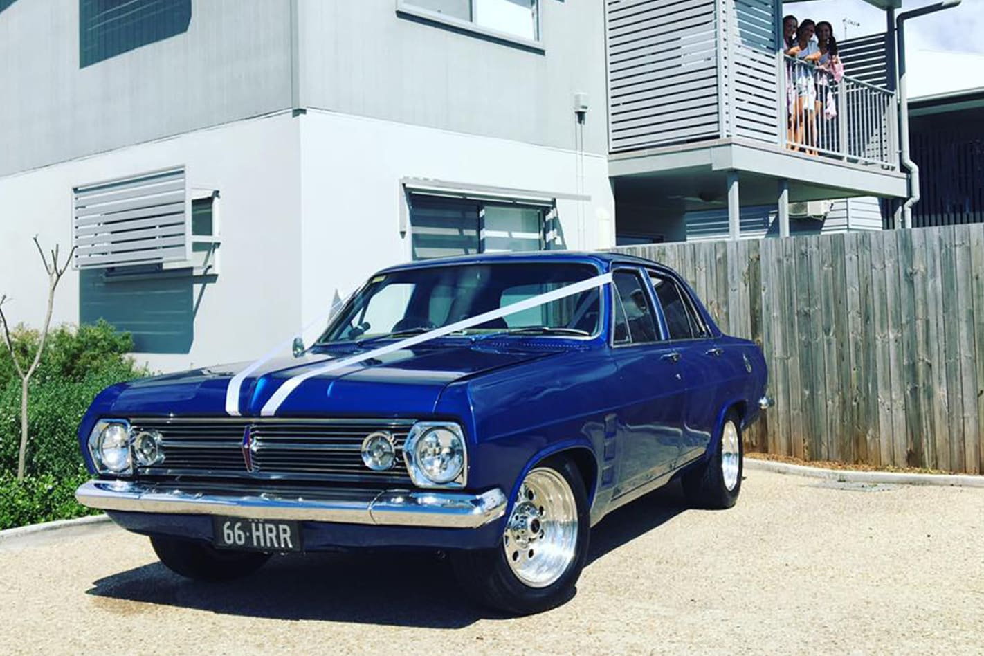 Rossy Benjamin's Holden wedding car