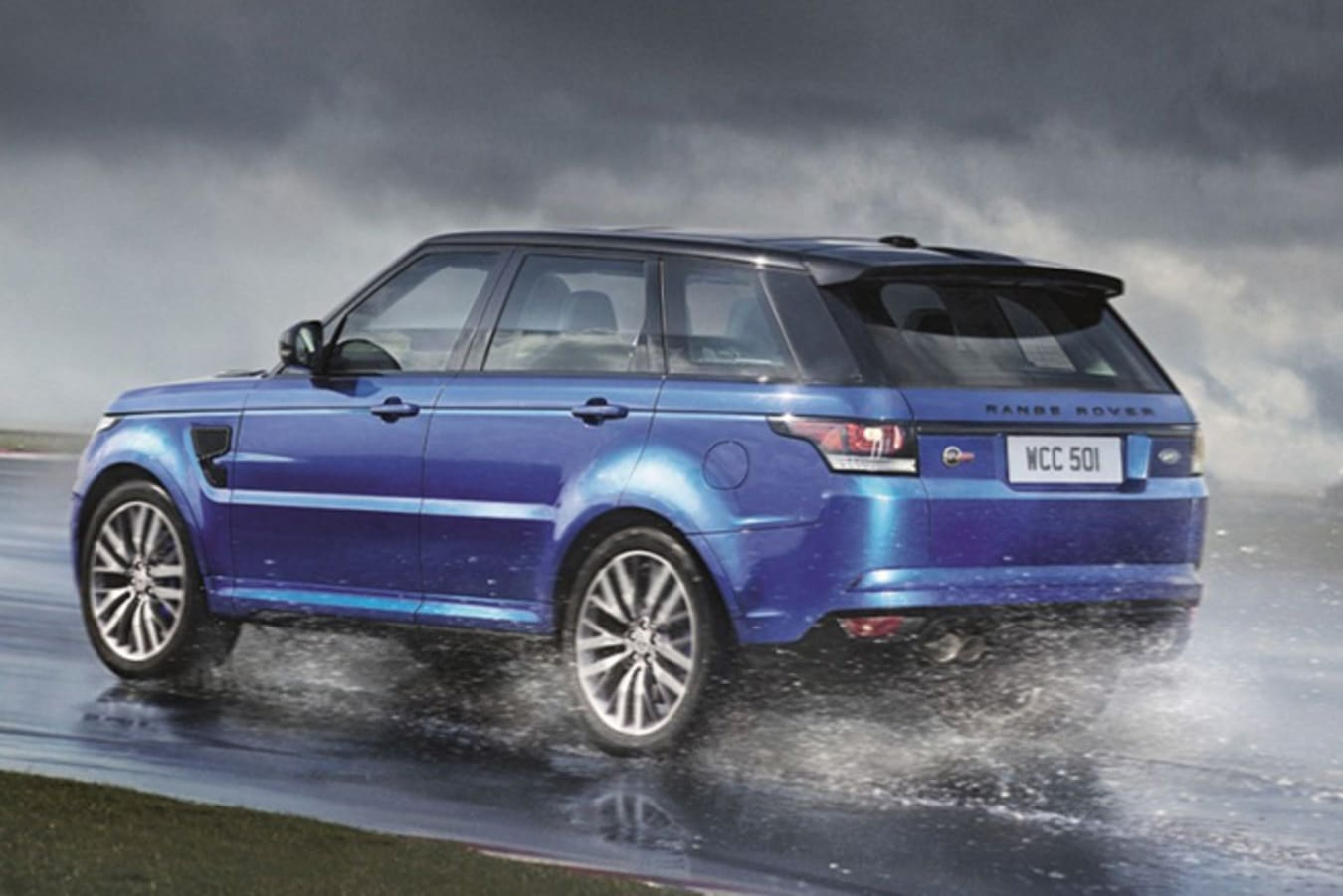 Renault Rover Sport SVR rear driving on wet road