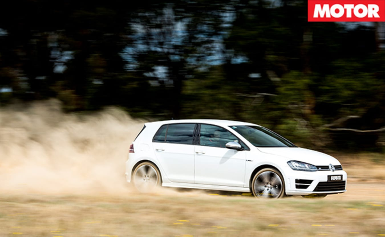 VW Golf-R driving
