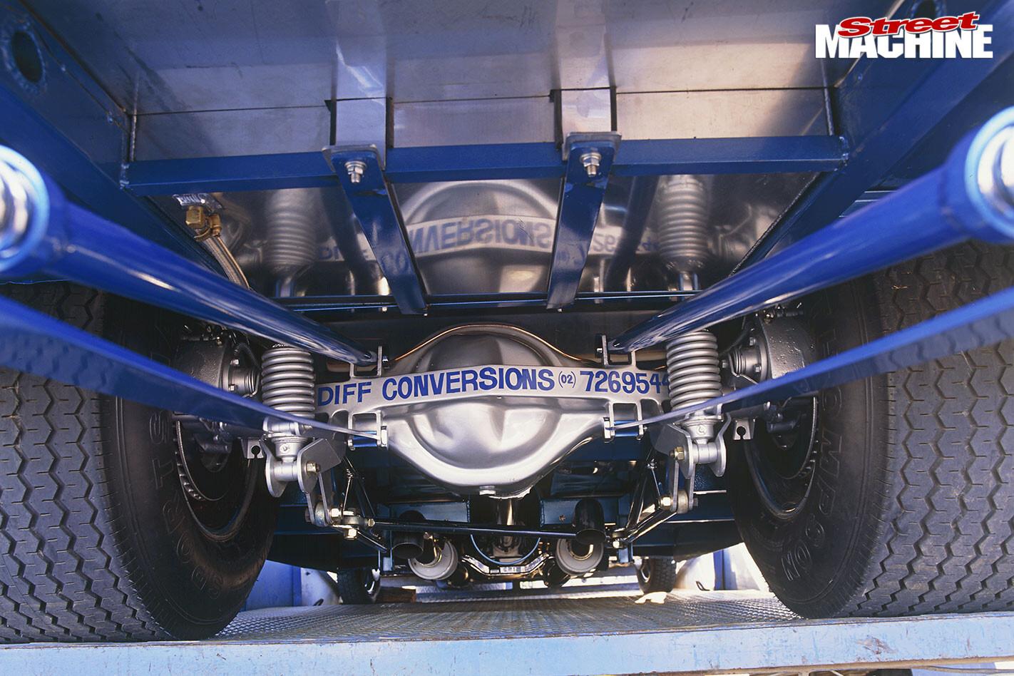 Pro street Ford XY Falcon underside