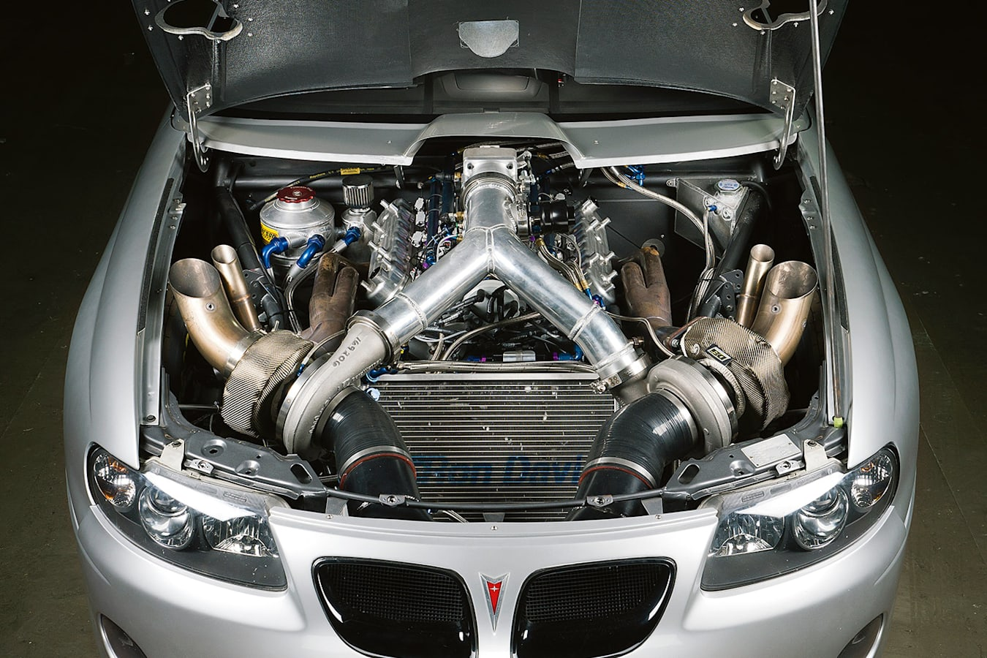 Pontiac GTO engine bay