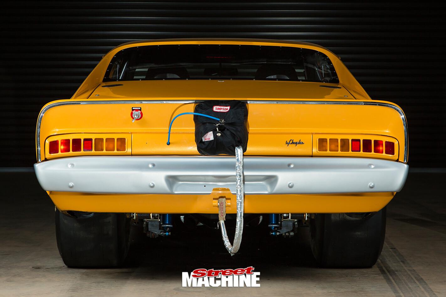 Chrysler -valiant -e 55-charger -rear -view