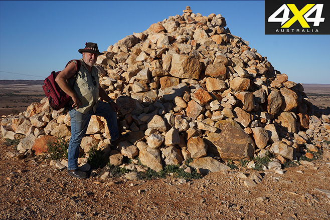 The rock cairn
