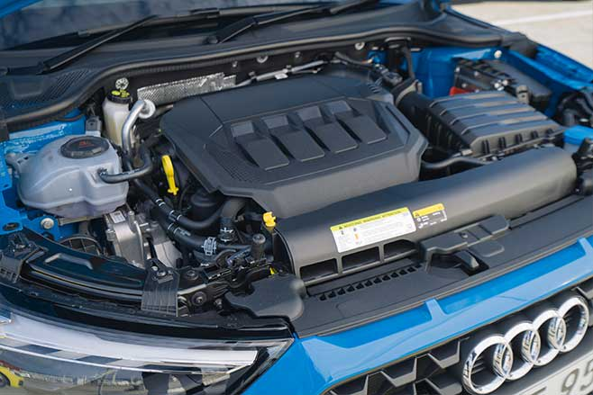 The 2.0-litre turbo engine produces 147kW and 320Nm.