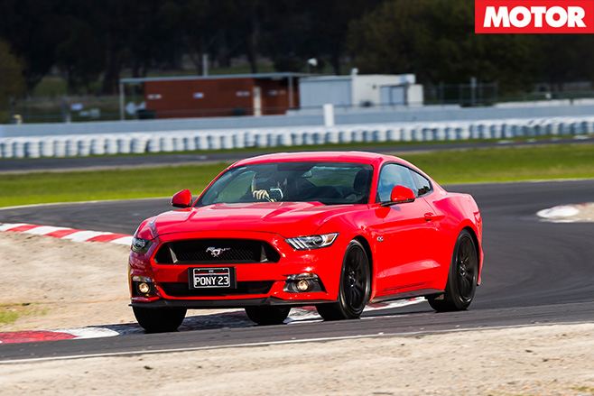 Ford Mustang GT driving