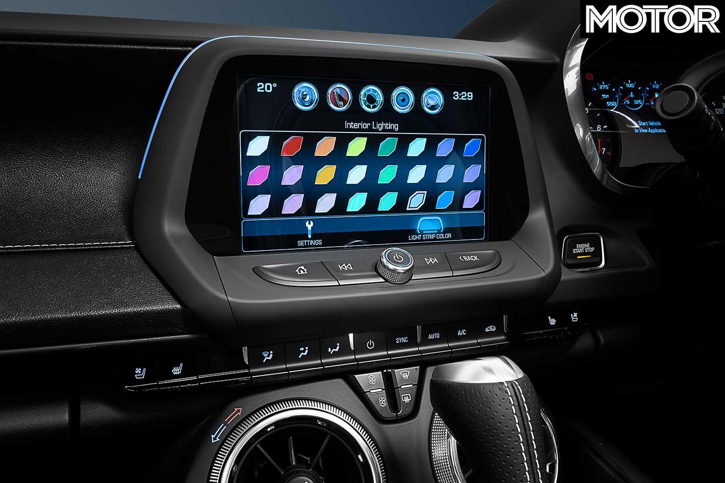2018 Chevrolet Camaro 2 SS Interior Lighting Jpg