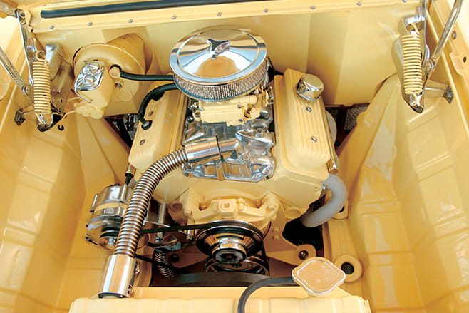 Holden FB coupe engine bay