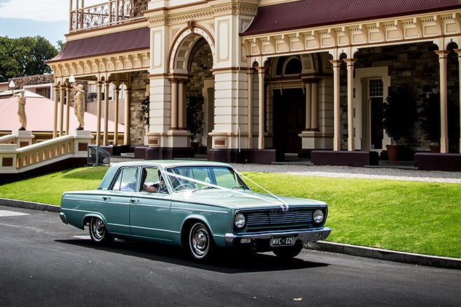 Chrysler VC Valiant wedding car