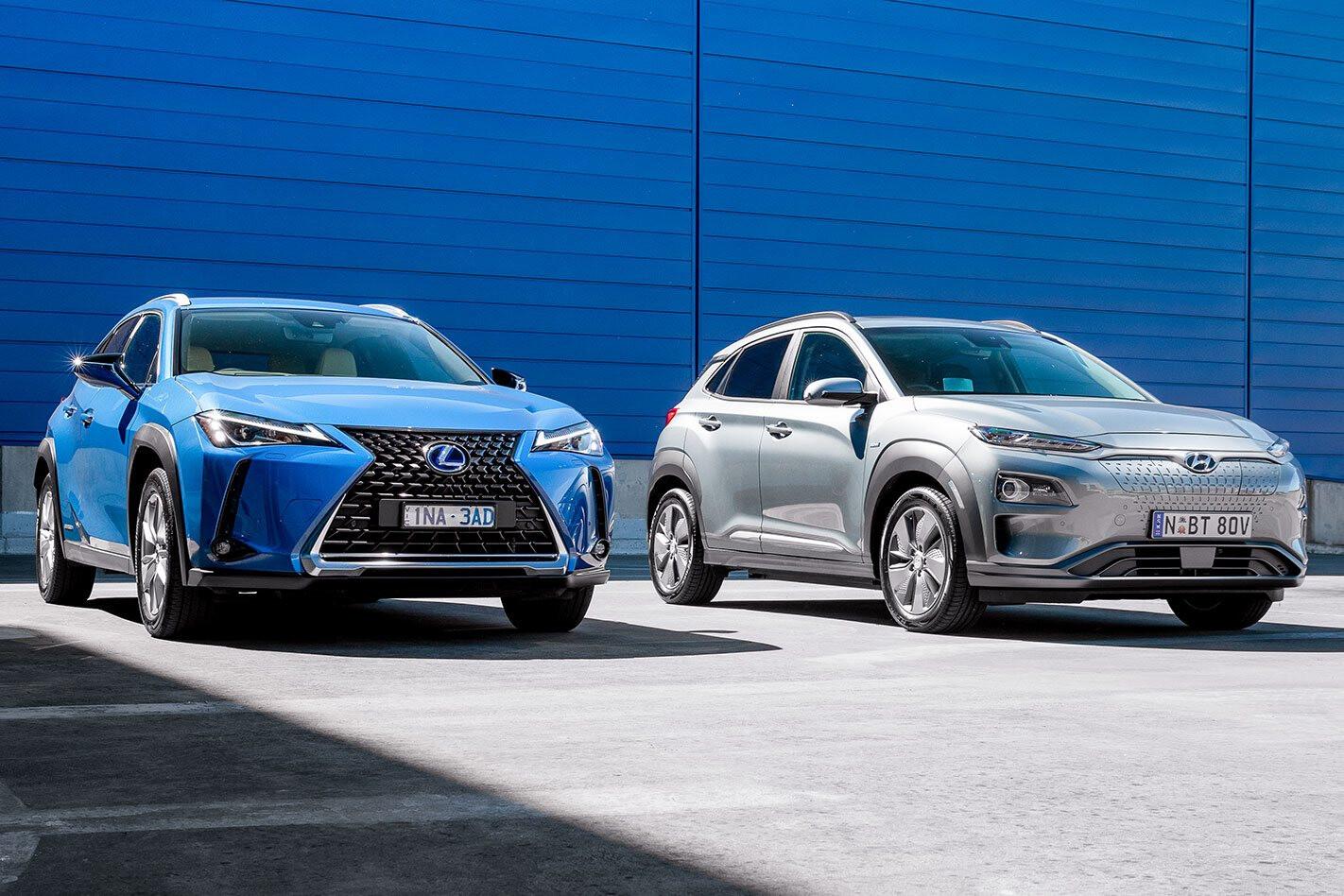 Hyundai Kona Highlander EV vs Lexus UX250H Comparison