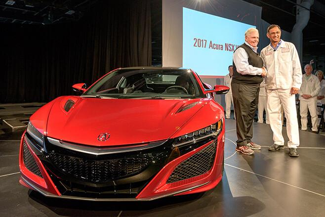 Honda NSX Factory floor auto show