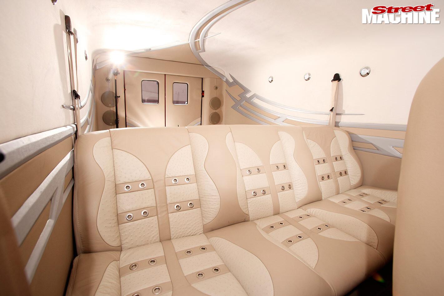custom Divco van seats