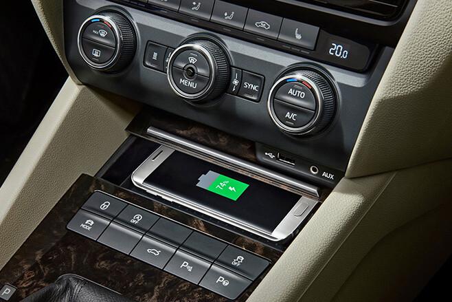 Skoda Phonebox in-car Smartphone Charging