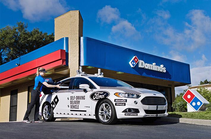 Ford Autonomous Pizza Front Quarter Jpg