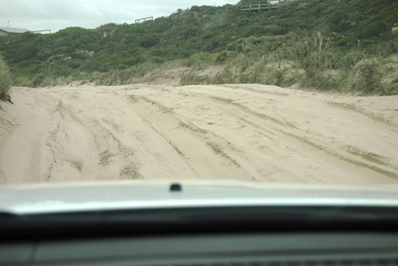 Jeep Cherokee view out of windscreen
