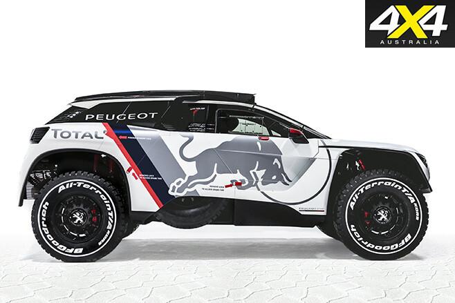 Peugeot's new 3008 DKR side
