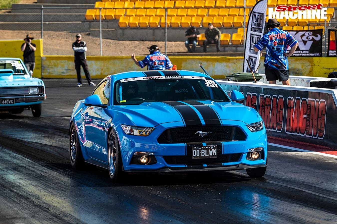 Todd O'Leary blown Mustang drag car