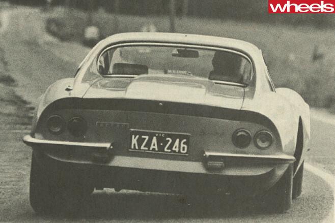 Ferrari -Dino -246-GT-driving -rear -side