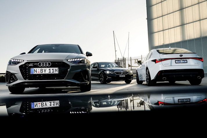 Audi A4 v BMW 330i v Lexus IS300 F Sport