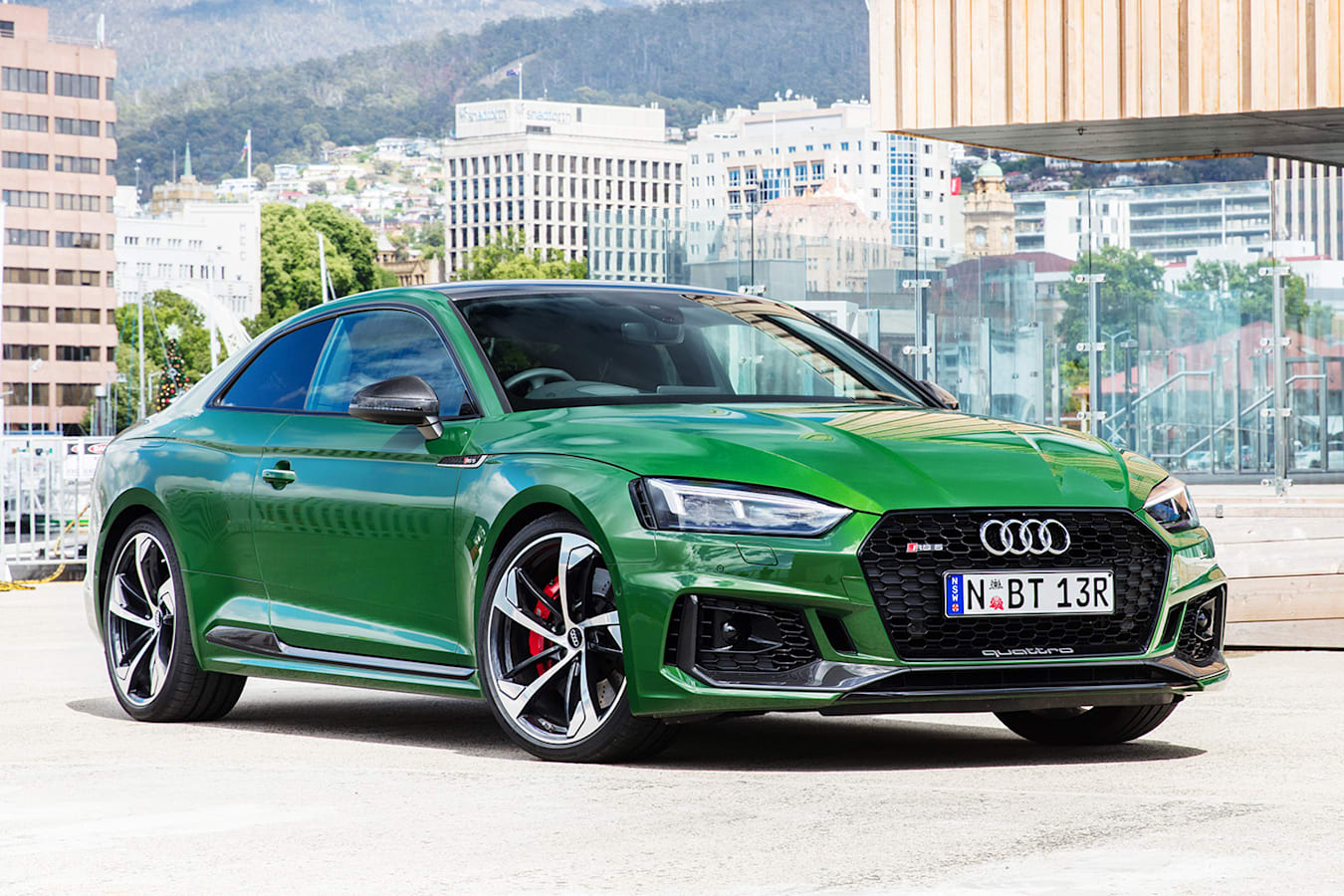 2018 Audi Rs 5 Green Front Side Static Jpg