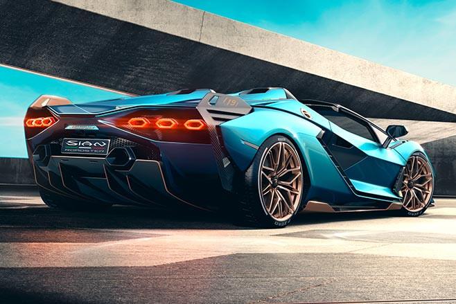 Lamborghini Sian Roadster rear