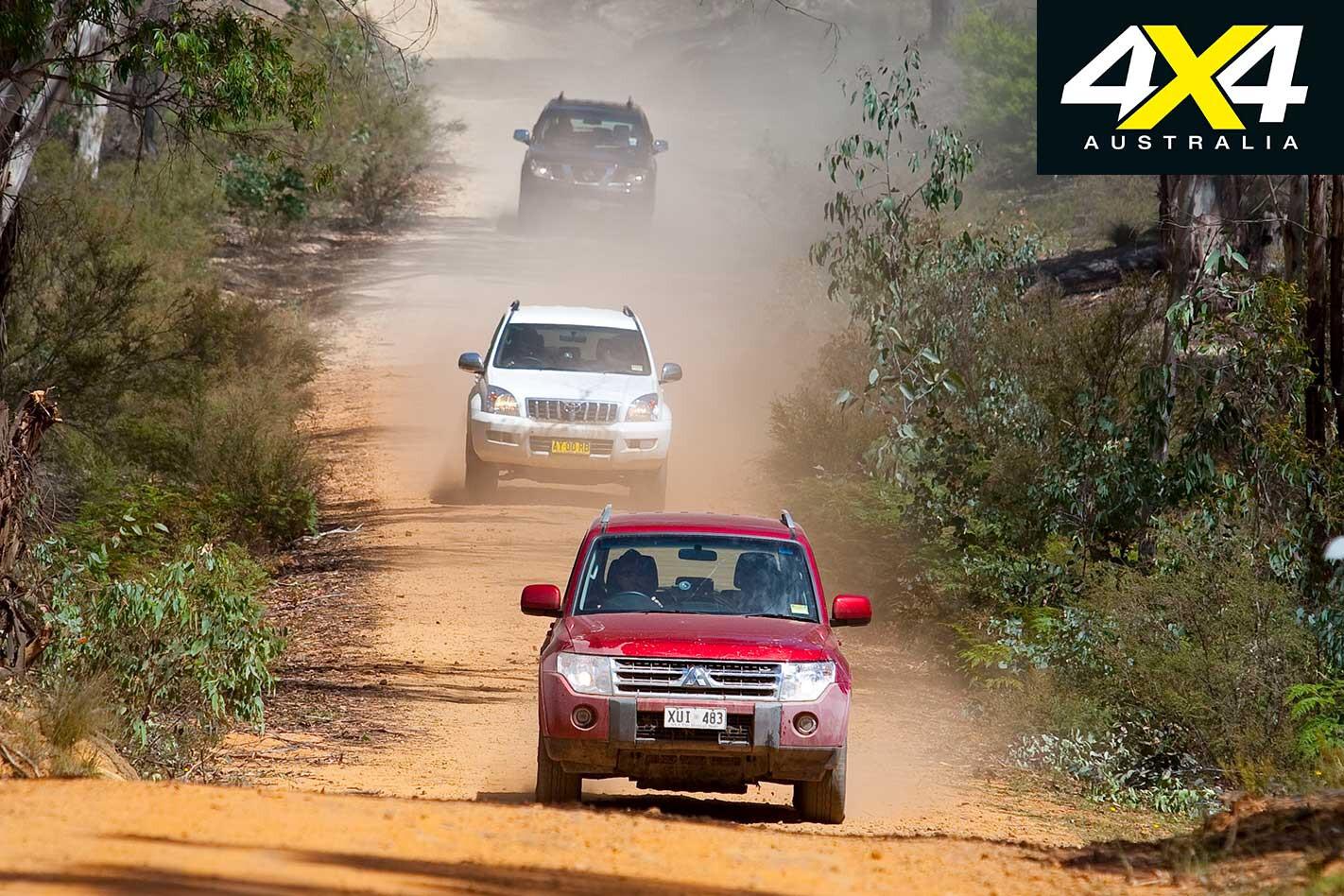 2009 Pajero Vs Pathfinder Vs Prado Comparison On Road Jpg