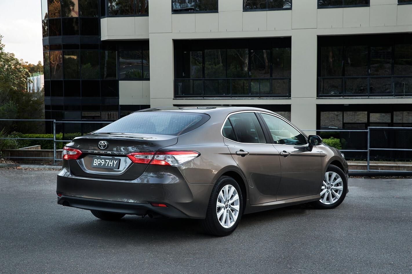 Toyota Camry Ascent Hybrid Rear Quarter 2 Jpg