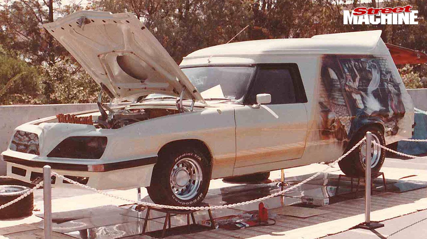 Holden HZ panel van The Wizard