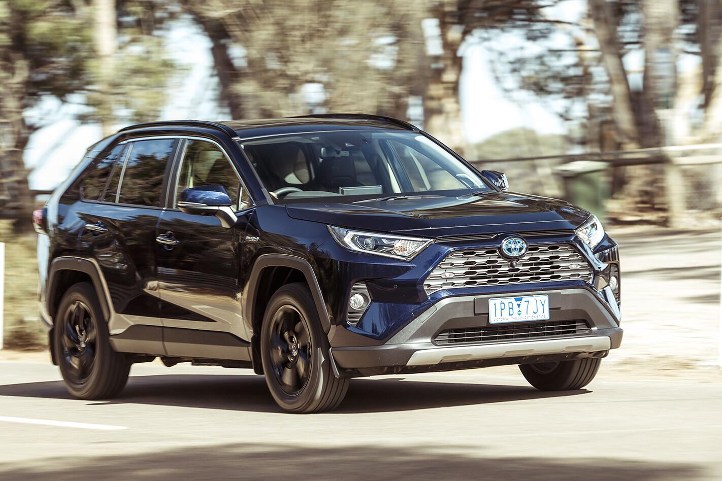 2019 Toyota Rav 4 Hybrid Cruiser Front Side Action Jpg