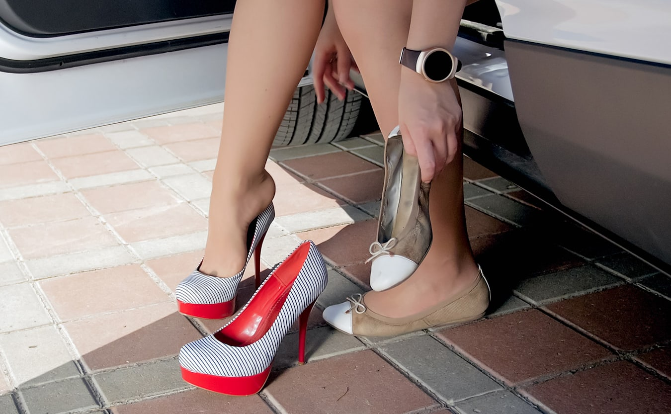 switching from flats to heels