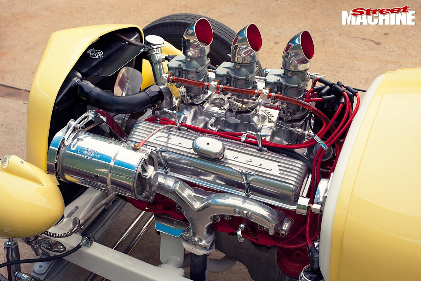 1927 Ford Model T coupe engine