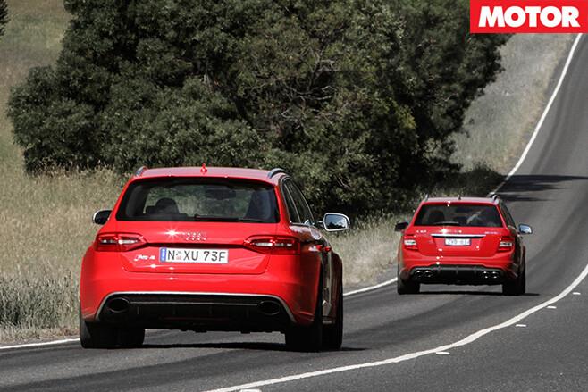 Audi rs4 v Mercedes C63 507 Estate rear