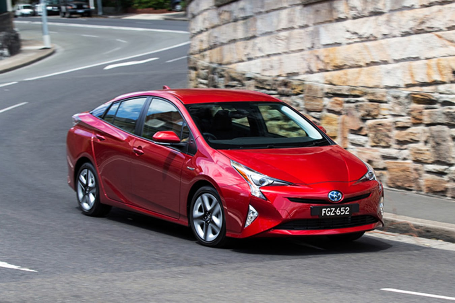 Toyota Prius driving