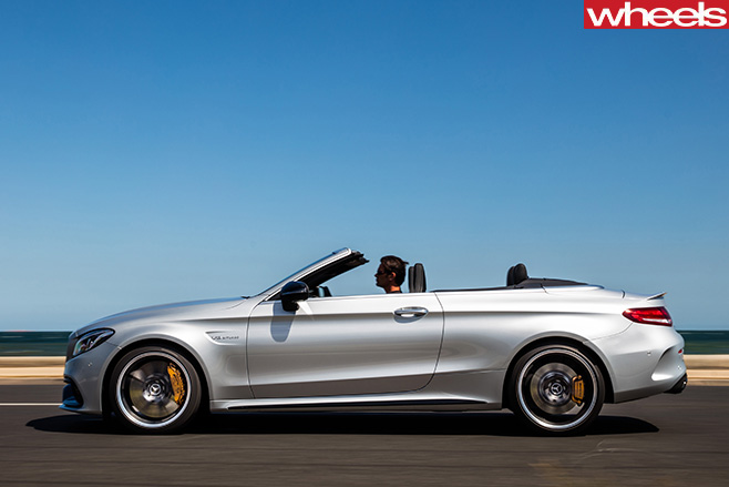 Mercedes -AMG-C63-Cabriolet -driving -side
